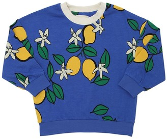 Mini Rodini Lemon Organic Cotton Blend Sweatshirt