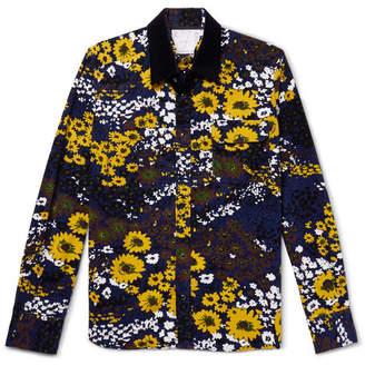 Sacai Floral-Print Cotton-Corduroy Shirt