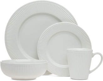 Godinger Closeout! Republique 16-Pc. White Embossed Dinnerware Set, Service for 4