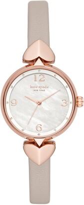 Kate Spade Hollis Leather Strap Watch, 30mm