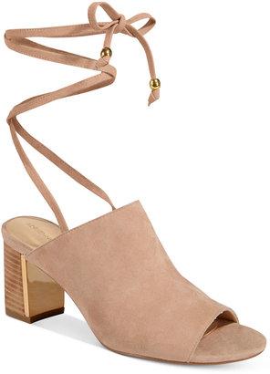 Adrienne Vittadini Panak Lace-Up Mule Sandals $105 thestylecure.com
