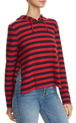 Generation Love Sid Side-Slit Striped Hooded Sweatshirt