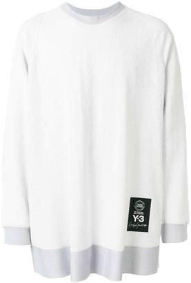 Y-3 oversized textured sweatshirt