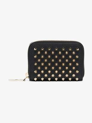 Christian Louboutin black Panettone spike coin leather wallet