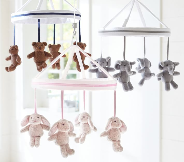 Pottery Barn Kids Harper Elephant Crib Mobile