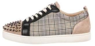 Christian Louboutin Louis Junior Spikes Flat Sneakers