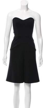 Prada Strapless Knee-Length Dress
