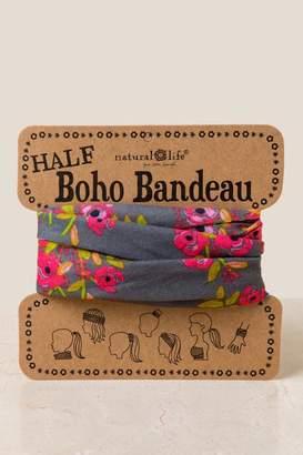francesca's Boho Bandeau in Charcoal Blooms - Black