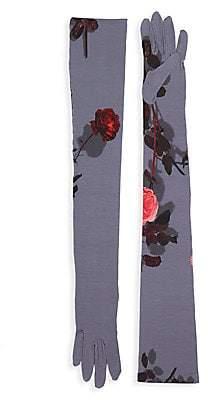 Dries Van Noten Women's Floral Long Gloves