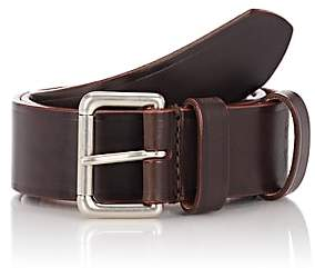 Felisi Men's Numbered Leather Belt-Brown