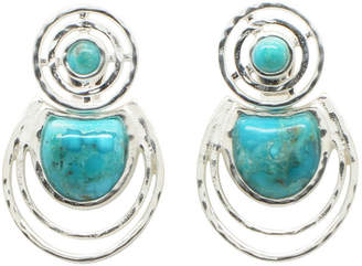 Barse FINE JEWELRY Silver Elements By Lab Created Blue Turquoise Sterling Silver Earring Jackets