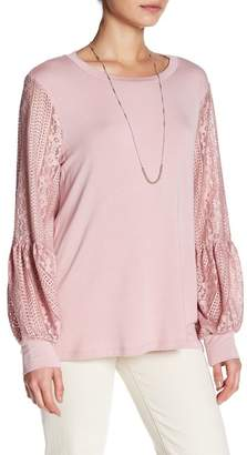 Dual Nature Pullover Lace Long Sleeve Shirt