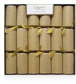 Gold Glitter Crackers, Box of 6