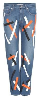 Christopher Kane Embellished cropped denim jeans