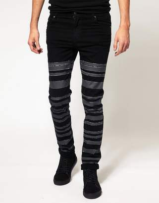 Cheap Monday Tight Vertical Coated Jeans