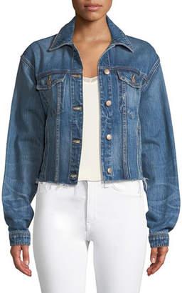 Joe's Jeans Button-Front Cutoff Denim Jacket