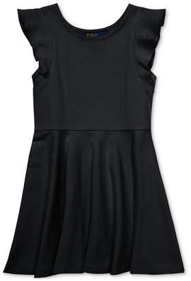 Polo Ralph Lauren Little Girls Ruffled Fit & Flare Dress