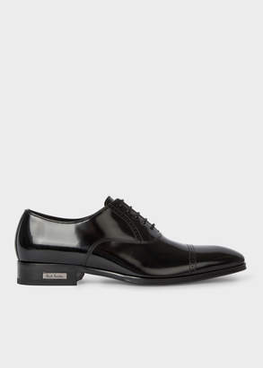Paul Smith Men's Black Patent Leather 'Lord' Oxford Shoes