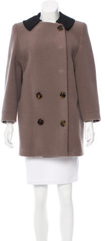 Miu Miu Miu Miu Double-Breasted Wool Coat
