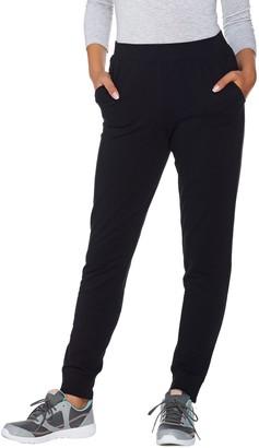 Denim & Co. Active Petite Jogger Pants with Zipper Detail