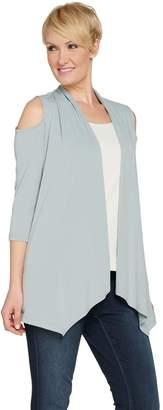 Susan Graver Liquid Knit Cold Shoulder Cardigan