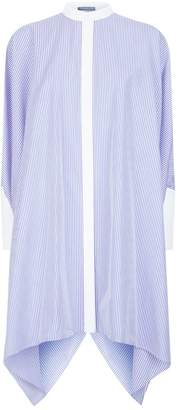 Alexander McQueen Oversized Striped Shirt Dress