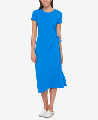 Tommy Hilfiger Ruched Side-Tie Dress, Created for Macy's $129.50 thestylecure.com
