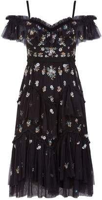 Needle & Thread Lustre Cami Cold Shoulder Dress