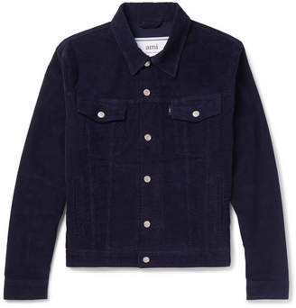 Ami Garment-Dyed Stretch-Cotton Corduroy Jacket