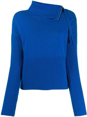 Odeeh folded neck jumper