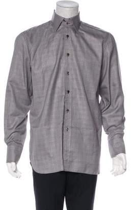 Tom Ford Woven Glen Plaid Shirt