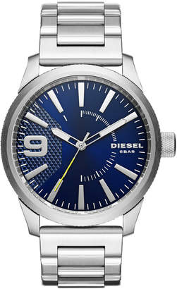 Diesel DZ1763 Silver-Tone & Blue Watch