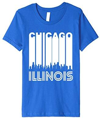 Retro Chicago Illinois Cityscape Downtown Skyline T-Shirt