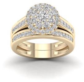 Imperial Star 1Ct TDW Diamond 14k Rose Gold Bridal Set