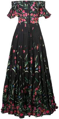 Carolina Herrera bardot floral dress