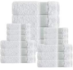 Unique 16-Piece Turkish Cotton Towel Set