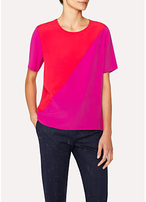 Paul Smith Colour Block Top, Pink