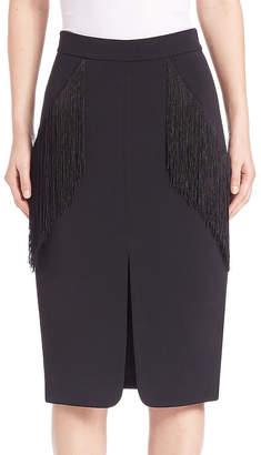 Jonathan Simkhai Fringe Pocket Pencil Skirt