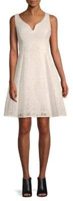 Donna Karan Sweetheart Embroidered Fit-&-Flare Dress