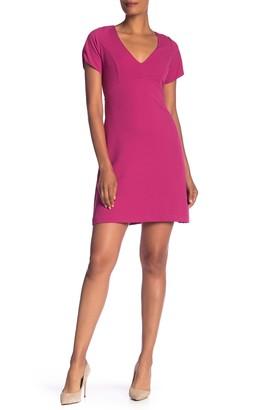 Betsey Johnson V-Neck Crepe Dress