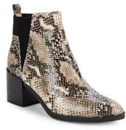 Nine West Snake-Embossed Ankle Boots