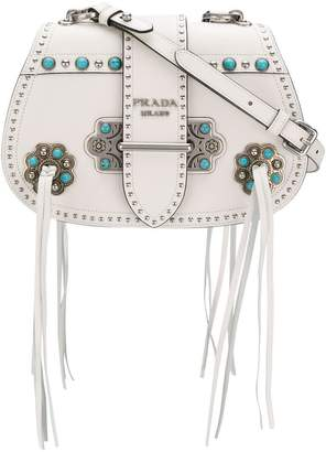 Prada Folk saddle crossbody bag