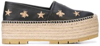 522e62827ef Gucci bee and star embroidered espadrilles