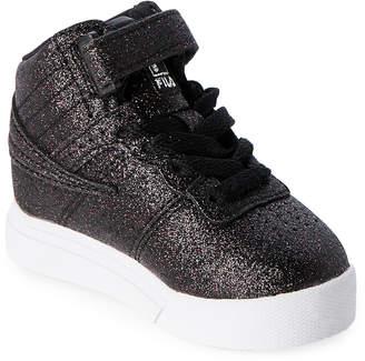 Fila Toddler Girls) Black Vulc 13 Glitter Blast High-Top Sneakers