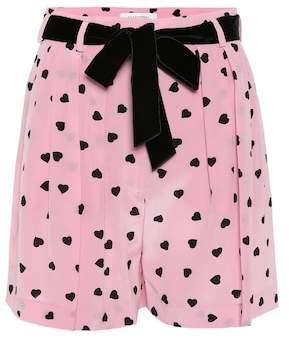 Valentino Printed silk shorts