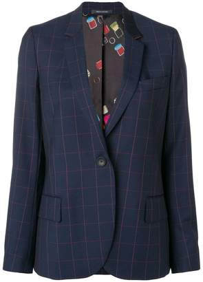 Paul Smith large check blazer