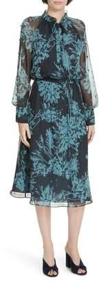 Equipment Henriette Silk Chiffon Dress