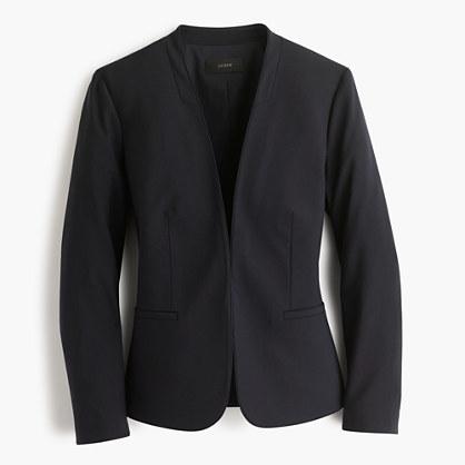 J.CrewCollarless blazer in Italian stretch wool