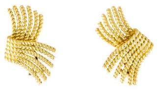 Tiffany & Co. 18K Schlumberger Rope Earrings