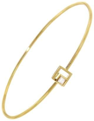 Yannis Sergakis Adornments Princess Cut Diamond Square Bangle - Yellow Gold